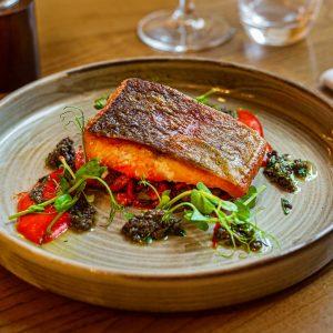Salmon Fish Vegan Vegetarian White Hart Royal Cotswolds Hotel